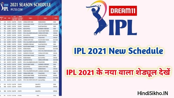 19 Sep 2021 IPL New Schedule Venue, Date & Time